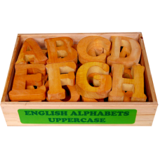 English Alphabet - Uppercase in Wooden box