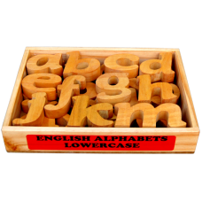 English Alphabet - Lowercase in Wooden box